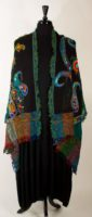 Parsley and Sage - Black/Multi Wool Stole