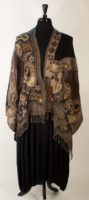 Parsley and Sage - Brown, Black and Teal Wool Stole