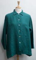 "Button Front Long Sleeve Linen Blouse/Jacket by ""bryn Walker"" (2 colors)"