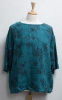 """Winter Weight Linen Print Top by """"bryn Walker"""""""