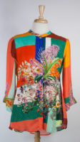 Vibrant Mandarin Blouse by Citron