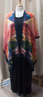 """Long Open Front Silk Kimono by """"Cocoon House"""""""