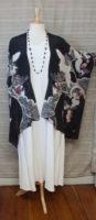 """Cocoon House - Long Silk Kimono - """"The Crane"""""""