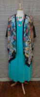 "Cocoon House - Long Silk Kimono - ""Garden Phoenix"""