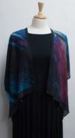 """Purple Passion"" Short Silk Kimono Jacket by ""Cocoon House"""