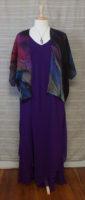 "Cocoon House - Fine Wool Kimono - ""Purple Passion"""