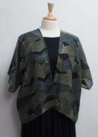 """Loom"" Print Fine Wool Short Kimono by ""Cocoon House"""