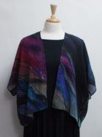 """Purple Passion"" Fine Wool Short Kimono Jacket"