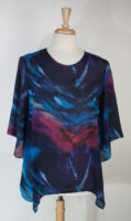 """Purple Passion"" Washable Silk Pullover Top by Cocoon House"