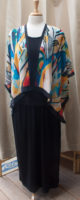"""New Short Open Front Silk Kimono by """"Cocoon House"""""""