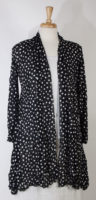Long Polka Dot Cardigan by Comfy USA