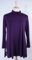 Long Sleeved Tunic Length Turtleneck by Comfy USA (2 colors)