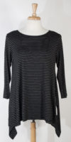 Black Pinstripe Tunic by Comfy USA