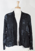 Black Newsprint Jacket by Comfy USA