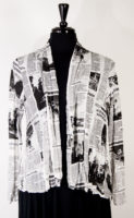 White Newsprint Jacket by Comfy USA