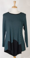 Diagonal Striped Tunic by Comfy USA