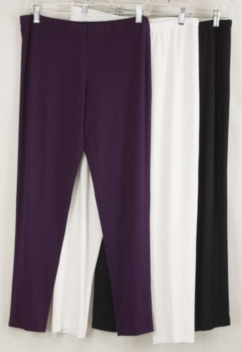 Comfy USA Long Leggings - Purple, White, and Black