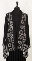 Dairi Black Jacket with Print Patchwork