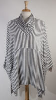 Cowl Neck Striped Tunic by Dairi
