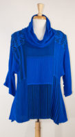 Patchwork Cowl Neck Pullover by Dairi