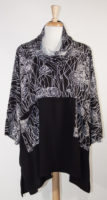 Black Floral Cowl Neck Tunic by Dairi