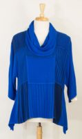 Dairi Mixed Fabric Cowl Neck Top (2 colors)