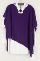 Cashmere Asymmetrical Poncho by Dolma Imports (6 Colors)