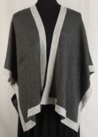 Reversible Cape Double Layer Cashmere by Dolma Imports (3 Colors)