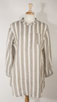 Flax Long Sleeved Striped Night Shirt (3 Colors)