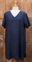 100% Linen Denim-look dress by FLAX