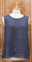 """Sunny"" Waffle Texture Tank Top by FLAX"