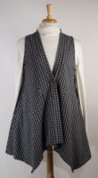 Gingham Checked Vest by Flutter