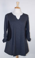 "Gray Striped ""Rosemary"" Tunic by Flutter"