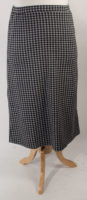 Black/Gray Checked Pencil Skirt by Flutter