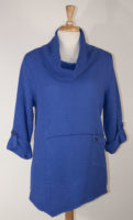 Cowl Neck Cotton Tunic by Focus (4 Colors)