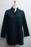"""Striped Quilt Long Jacket by """"Focus"""" (2 colors)"""