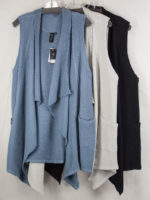 Long Cotton Vest by Focus (3 Colors)