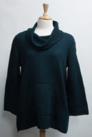 """Cowl Neck Waffle Weave Pocket Tunic by """"Focus"""" (2 colors)"""