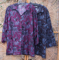 "Vintage Floral Tunic Blouse by ""Habitat"" (2 colors)"