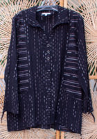 "Black Peruvian Striped Jacket by ""Habitat"""