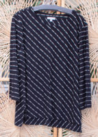 "Diagonal Micro Striped Top by ""Habitat"""