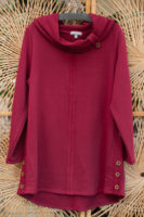 "Terry Cotton Cowl Tunic by ""Habitat"" (2 Colors)"