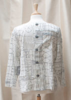 """White Button Back Pullover Top by """"Habitat"""""""