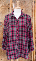 "Plaid Tunic-length Blouse by ""Habitat"" (3 colors)"