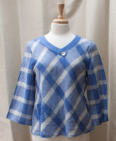"""Fit and Flare Long Sleeved V-neck Top by """"Habitat"""""""