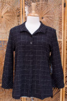 "Black Plaid Pocket Tunic by ""Habitat"""