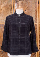 "Black Plaid Pocket Jacket by ""Habitat"""