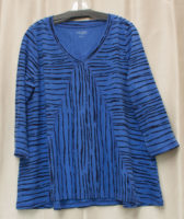 """Striped Swing V-neck Top by """"Habitat"""" (3 colors)"""