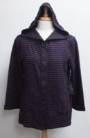 """Crinkle Striped Hoodie Jacket by """"Habitat"""" (3 colors)"""