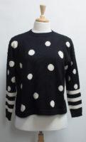 Iridium 100% Alpaca Sweater - Dots and Stripes